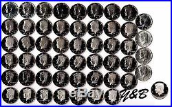 1964 2016 S Proof Kennedy Half Dollar Complete Set (include silver proof, SMS)