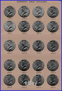 1964 2017 Complete Bu Uncirculated P And D Kennedy Half Dollar Dansco Set