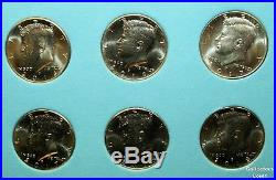 1964 2018 Kennedy Half 102 Coin Complete UNCIRCULATED PD Set wWhitman Folders