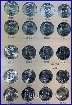 1964 -2020 Kennedy Half P&D 108 Coin COMPLETE Uncirculated Set with2 S in Dansco