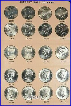 1964-2020 P-d Kennedy Half Dollar Complete Set In Dansco 106 Coins Uncirculated
