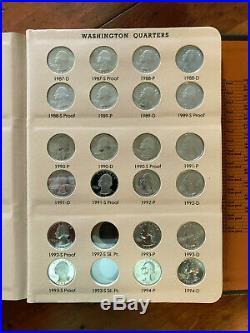 1965-1968-1998 Complete Washington Quarter BU/Proof P/D/S Collection- 96 Pc Set