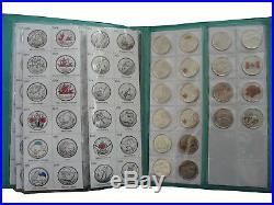 19672017 Canada Commemorative 25-cents Complete Set BU & PL All Mint
