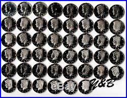 1968 2014 + 2015 S Clad Proof Kennedy Half Dollar Complete Set US mint run