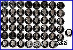 1968 2015+ 2016 S Clad Proof Kennedy Half Dollar Complete Set US mint run