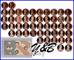 1968 2016 S Lincoln Cent penny Memorial Shield Gem Proof 52 Coin complete set