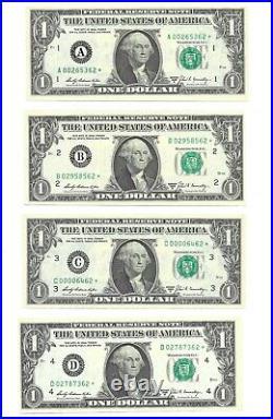 1969b $1 Complete District Star Set, 12 Crisp & Uncirculated Banknotes 62