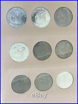1971 1978 Complete Eisenhower Dollar Dansco 32 Coin Set Uncirculated & Proofs