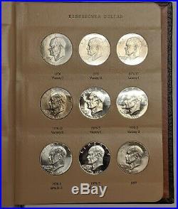 1971-1978 Complete Eisenhower Dollar Set BU/PR Including Silver in Dansco Album
