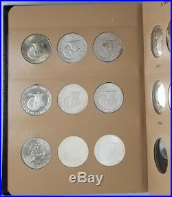 1971-1978 Complete Eisenhower Silver One Dollar $1 Set Dansco 32 Coin Book