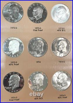 1971-1978 Complete Gem BU Eisenhower Dollar Set