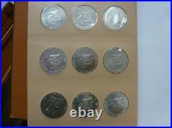 1971-1978 Complete Set-32 Coins-of Eisenhower Dollars in Dansco Album #8176