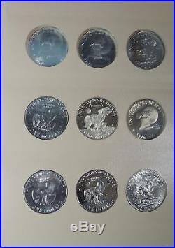1971 1978 Complete Set of Eisenhower Dollars $1 in Dansco Album w Proof Issues