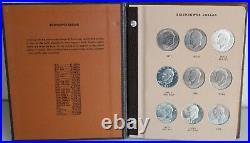 1971-1978 Eisenhower Dollar Inc Proof Book Dansco Album #8176 Complete