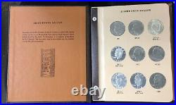 1971-1978 Eisenhower Dollar complete set of 32 in DANSCO Album with Proofs