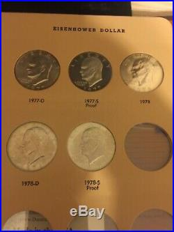 1971-1978 Eisenhower Silver Dollars Complete 32- Coin Set Including Proofs