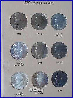1971-1978 P/d/s (10) Silver Complete Eisenhower 32 Coin Set In New Dansco