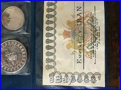 1971 Persia Anniversary Of Persian Empire 5 Silver Coin Set Rare Complete