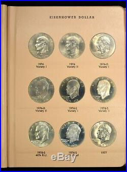 1971 Thru 1978 Complete Eisenhower Dollar Set Uncirculated and Proof 32 Coins
