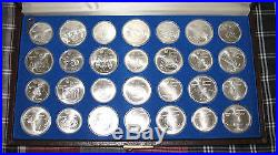 1976 Montreal Olympics 28 Sterling Silver Coin Complete Set