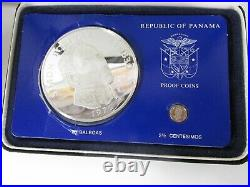 1976 Panama 20 Balboa Proof Coin Set of 2 Complete