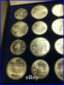 1976 montreal Olympic Coin Set Complete 28 Coin Set sterling silver