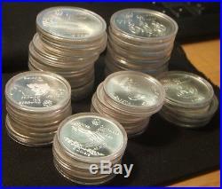 1976canada Olympics28-coin-bu Unc Silver Setcompleteover 30 Ounces Silver