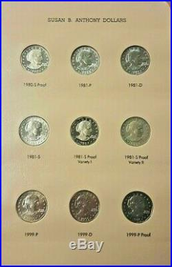 1979-81,99 P-D-S SUSAN B ANTHONY DOLLAR COMPLETE SET 18 COINS With1979&1981 Type 2