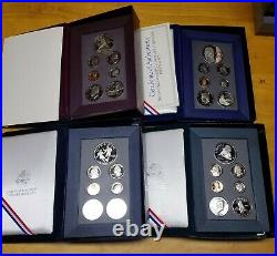 1983-1997 Complete Prestige Proof Set Collection with boxes and all Certificates