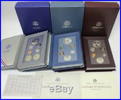 1983-1997 Prestige Proof Sets Complete 14 Set Collection With1996