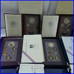 1983-1997 Prestige Proof Sets Complete 14 Set Collection With1996 WithBox & COA
