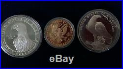 1983-84 Olympic Coin Proof Set Gold & Silver COMPLETE Box & COA YUGOSLAVIA / US