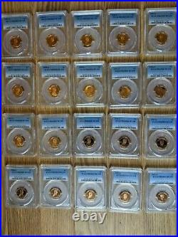 1983-S to 2002-S COMPLETE SET! Lincoln Cent PCGS PROOF PR69RD DCAM 20 1C withBox