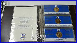 1984 Canada Papal Visit Complete 15 Gold Plated Coin Set with CoA