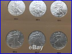 19862018 American Silver Eagle Complete Set In Dansco 33 Coins Uncirculated (e)