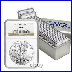 1986 2005 Complete 20 Coin American Silver Eagle Set Ngc Ms 69 #d