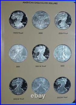 1986 2008 Complete Set of American Silver Eagles BU & Proof Dansco Album 8181