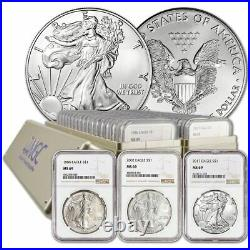 1986 2018 Complete 33 Coin American Silver Eagle Set Ngc Ms 69 #a-b-c