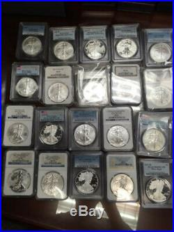 1986-2019 American Silver Eagle Collection COMPLETE SET 90 coins, no 1995-W