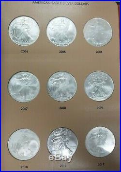 1986-2019 American Silver Eagles 1oz Complete 34 Coin Set In Dansco Album I173