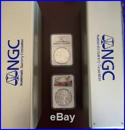 1986 2019 Complete 34 Coin American Silver Eagle Set Ngc Ms 69