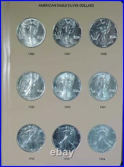 1986 2020 Complete Set of 35 American Silver Eagles in Dansco Album 7181 BU