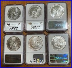 1986-2020 Complete Silver Eagle Set NGC MS69 35-Coins