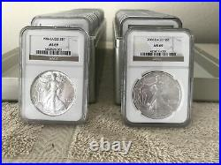 1986 2021 Complete 36 Coin American Silver Eagle Set Ngc Ms 69