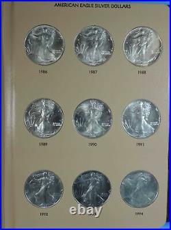 1986 2021 Complete Set of 36 American Silver Eagles in Dansco Album 7181 BU