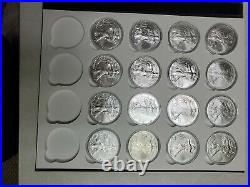 1986 2021 Complete Set of 36 BU American Silver Eagles in Capsule Album