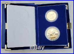 1987 American Gold Eagle Proof 1oz & 1/2oz Gold-COMPLETE 2-COIN SET-FREE Ship