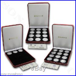 1988-2016 COMPLETE SET of 29 Isle of Man SILVER Cat Coins 1oz. 999 Proof Crown