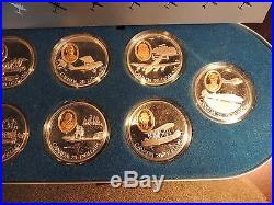 1990 1994 Canada Complete Serie Set No 1 Aviation Powered Flight $20 Gold Silver