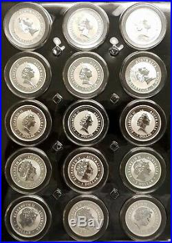 1990-2019 (30) BU Australia Australian 1 oz Silver Kookaburra Complete Coin Set